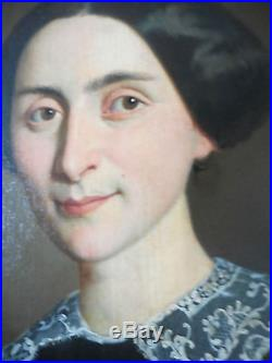 Superbe Portrait Par Melchior Blanchard 1867 Dijon