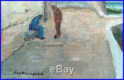 Superbe Tableau De Guy Pennamen Concarneau Bretagne Qualite Rare Authenticité