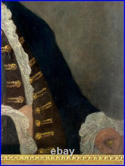 TABLEAU / PEINTURE / HUILE SUR TOILE RENTOILLÉE DU XIXe (PORTRAIT D HOMME)