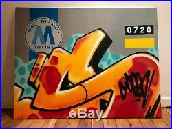TOILE SEEN Graffiti 116x88cm sur chassis 2009 Jonone Quik Cope2 Futura Banksy