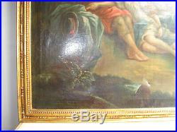 Tableau Ancien 1780 Environ-xviii Siècle-scène Galante-peinture A L'huile