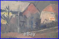 Tableau Auguste BOEHRINGER 1913-1971 Paysage Alsace Mulhouse 99 x 99