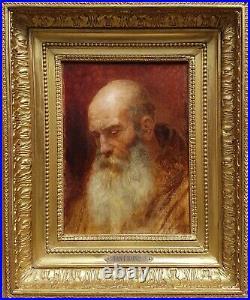 Tableau CHANTRON étude moine peinture française 19ème académique modèle tête