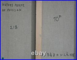 Tableau Eugène BABOULENE- Huile/toile Nature morte au poisson v1372