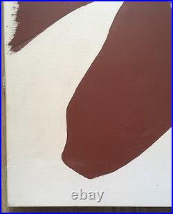 Tableau Huile Portrait Silhouette Femme Nu Féminin Geneviève Zondervan XXe