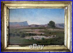 Tableau Huile Sainte-Victoire, paysage Provence très proche Paul Guigou