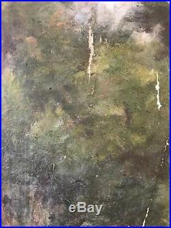 Tableau Impressionnisme Paysage Campagne Huile de Jules Cyrille Cavé 1859-1949