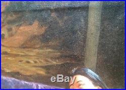 Tableau Odalisque Chinoise Nu Huile sur toile signée ZHANG c1960 ou ZHANG BO