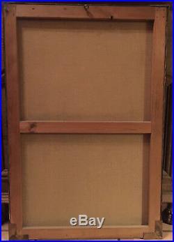 Tableau Pastel Jean-Albert Grand Carteret (1903-1954) Nu Art Déco cadre d'origin