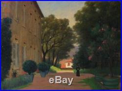 Tableau Peinture Ancienne Huile sur Toile Paysage, Religieux, Architecture