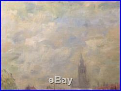 Tableau Peinture Cadre 20è XXè Brückner Paysage Montmartre Post Impressionnisme