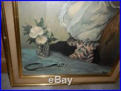 Tableau Peinture Femme Qui Se Coiffe Signe Dyf