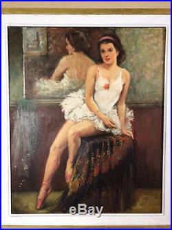 Tableau / Peinture / Huile Sur Toile Des Années 30 La Danseuse Signée
