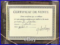 Tableau / Peinture / Huile Sur Toile L'ne Et Les Brebis Signée B. Vaudion