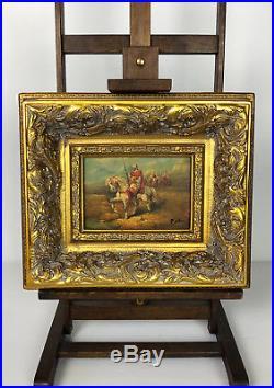 Tableau / Peinture / Huile Sur Toile L'orientaliste Signée R. Wilson