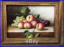 Tableau / Peinture / Huile Sur Toile Nature Morte Aux Fruits Signée D. Lebon