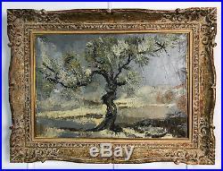 Tableau / Peinture / Huile Sur Toile Paysage Hivernal Signée Alex Grig (1938)