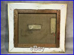 Tableau / Peinture / Huile Sur Toile (ecole De Barbizon) Bord De L Eau