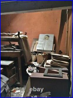 Tableau Peinture esquisse portrait Homme ART DÉCO découvert atelier d'artiste