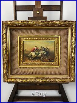Tableau / Peinture /huile Sur Toile Les Cavaliers Orientalistes Signée Wilson