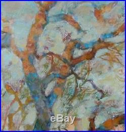 Tableau RUSSE Cyrillique Paysage Fauviste 56 x 67 cms