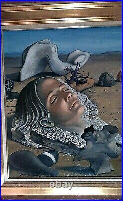Tableau Surréaliste Huile sur toile ALAUX Jean-Pierre
