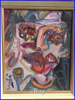 Tableau Thierry LOULE Autoportrait expressionniste Alauzen Toulon Provence