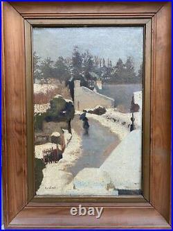 Tableau ancien Ecole Française H. Cochard (actif Au XXème Siècle) Le Dégel i