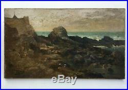Tableau ancien signé A. Lamoureux, Daté 1896, Huile sur toile, Bretagne XIXe