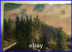 Tableau ancien signé et daté 1938, Huile sur toile, Ecole autrichienne XXe