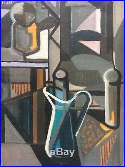 Tableau cubiste Jean Claude LIBERT (1917-1995) Moly Sabata 1949 Gleizes
