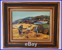 Tableau de Christian Jequel Huile sur toile format 5F (35cm x 27cm)
