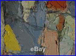 Tableau huile composition abstraite peinture au couteau dlg Serge Poliakoff