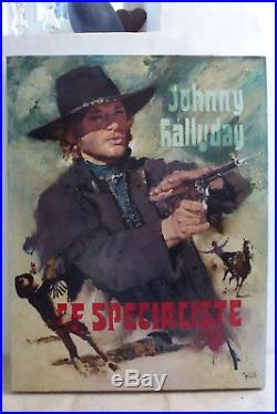 Tableau huile sur toile JOHNNY HALLYDAY LE SPECIALISTE peint par yves thos