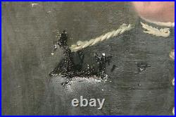 Tableau huile sur toile portrait d'homme militaire début XXème signé militaria