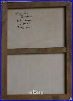 Tableau huile /toile DANSEUSES DE BALLET- signé SHEVCHUK Alexander