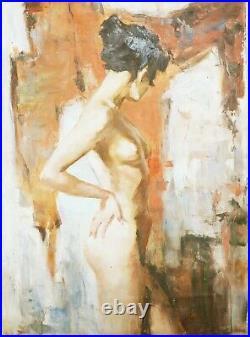 Tableau huile/ toile -Jeune femme nue par SHEVCHUK Alexander
