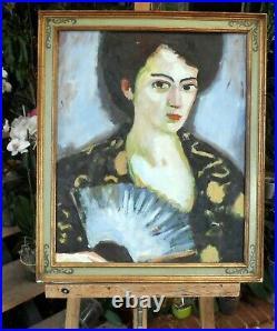 Tableau huile /toile portrait