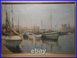 Tableau marine peinture port La Rochelle Charente-Maritime bateau mer océan 1