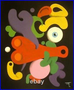 Tableau original peinture acrylique sur toile signé Artiste FLAVIEN COUCHE