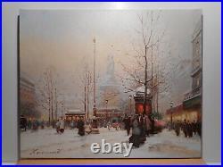 Tableau parisien Valéry KRASSOULINE peinture Paris Mariane place République