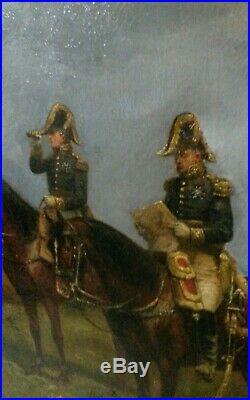 Tableau peinture Bataille d'Austerlitz Napoléon 1er Empire XIXé Paul E Perboyre