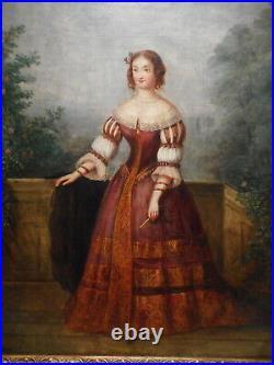 Tableau peinture Madame de Montespan favorite 17 siècle Louis XIV attrib CORMON