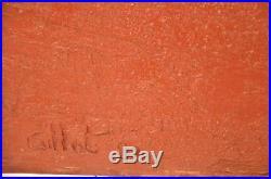 Tableau/peinture Sur Toile Signée Gillet 80