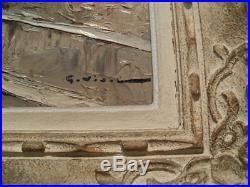 Tableau, peinture, huile sur toile signée gustave vidal, marine, corse