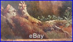 Tableau peinture paysage classique néo-classique ruines 19e huile école français