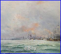 Tableau signé MAILLARD peintre officiel marine Dunkerque marine français bateau
