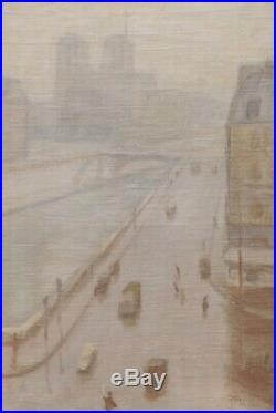 Tableau suiveur Albert MARQUET paysage vue PARIS Notre-Dame quai Saint-Michel