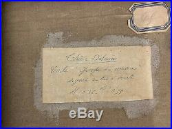 Tableau symboliste Maurice Denis Bonnard Peinture Paysage signé Therese Debains