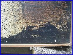 Tableaux huile sur toile par Massol années 70